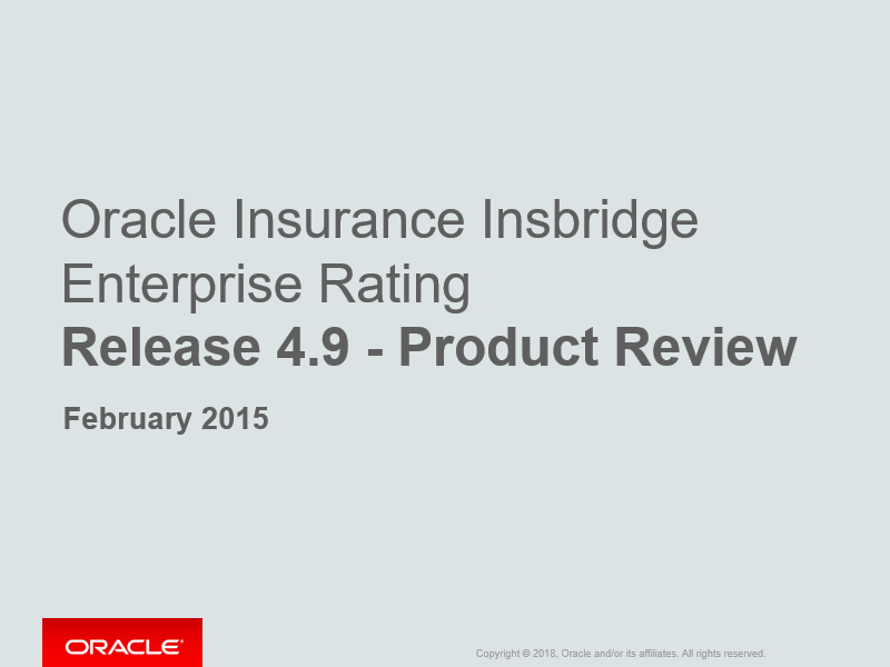 Oracle Insbridge 4.9 Release Review